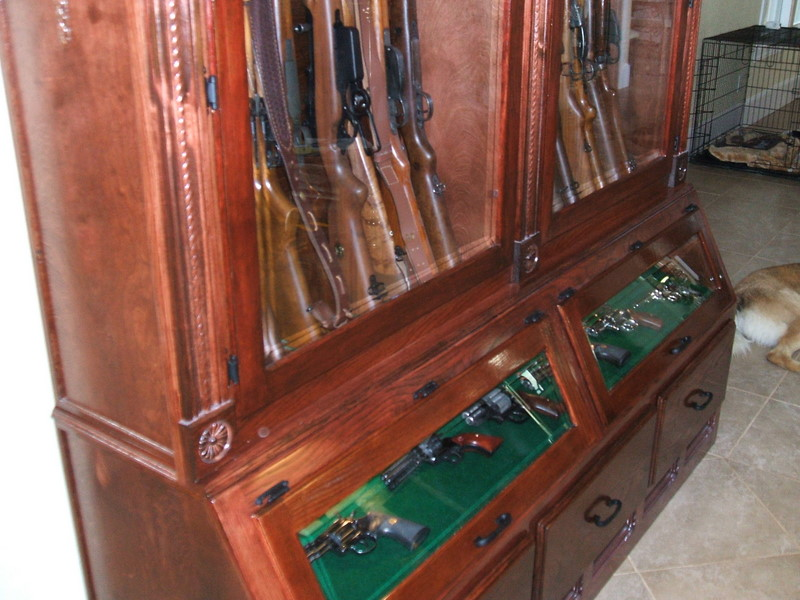 So you want a custom gun cabinet? (PIC heavy)
