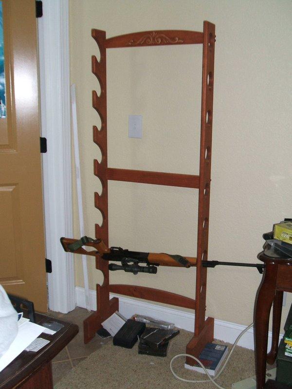 Ideas Woodworking Gun rack plans free standing